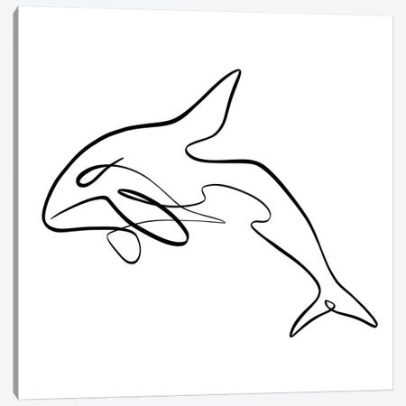 Orca Whale I Canvas Print #KHY39} by Dane Khy Canvas Art Print