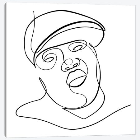 Biggie Smalls Canvas Print #KHY3} by Dane Khy Canvas Wall Art