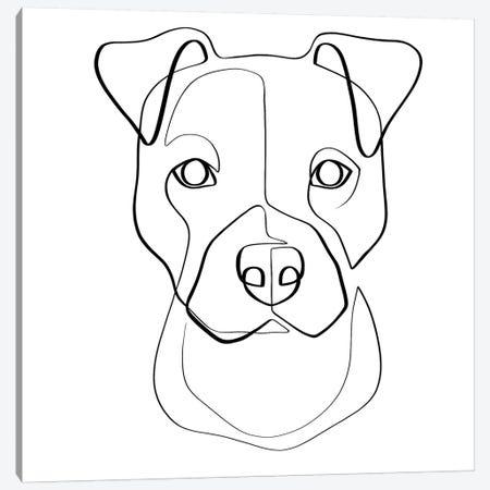 Pittie Pup Canvas Print #KHY42} by Dane Khy Canvas Wall Art