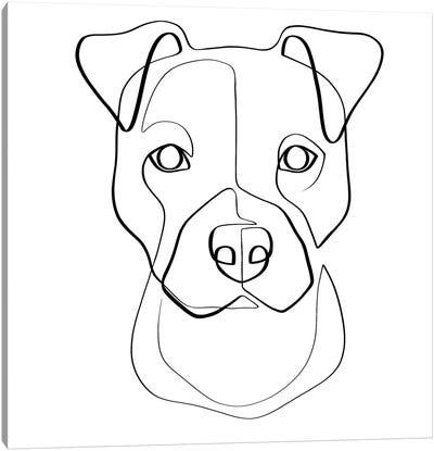 Pittie Pup Canvas Art Print