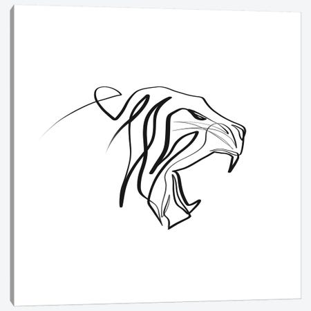 Tiger Canvas Print #KHY48} by Dane Khy Canvas Art