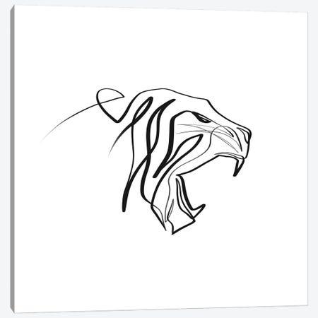 Tiger Canvas Print #KHY48} by Dane Khy Canvas Art