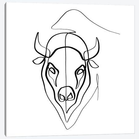 Bison Canvas Print #KHY4} by Dane Khy Art Print