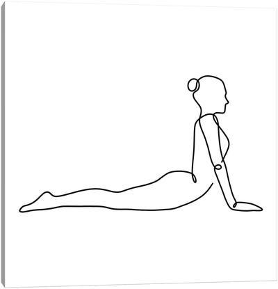 Yoga Cobra Square Canvas Art Print