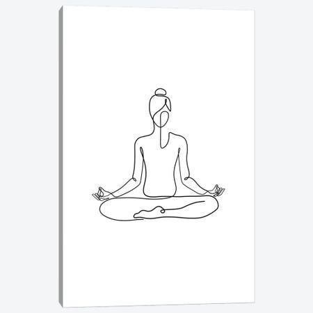 Yoga Namaste Canvas Print #KHY57} by Dane Khy Canvas Art