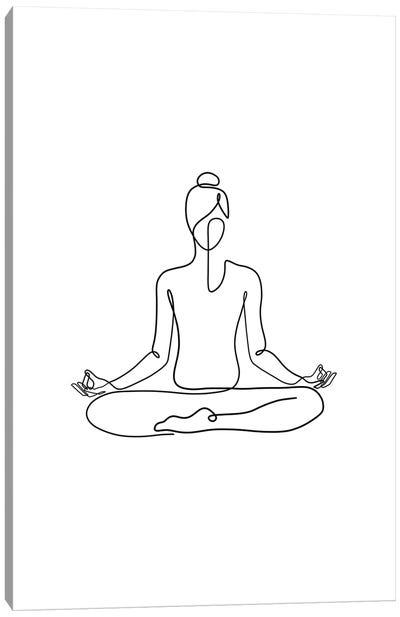 Yoga Namaste Canvas Art Print