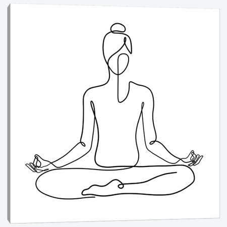 Yoga Namaste Square 3-Piece Canvas #KHY58} by Dane Khy Canvas Print