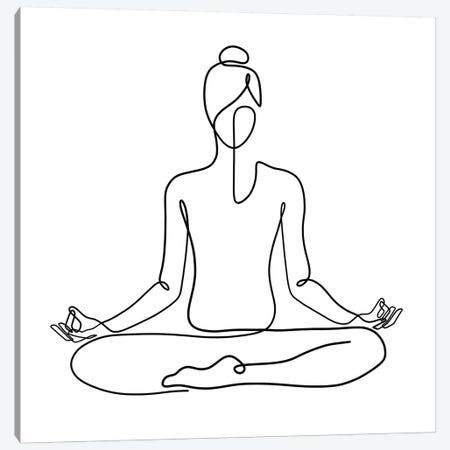 Yoga Namaste Square Canvas Print #KHY58} by Dane Khy Canvas Print