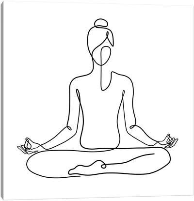 Yoga Namaste Square Canvas Art Print