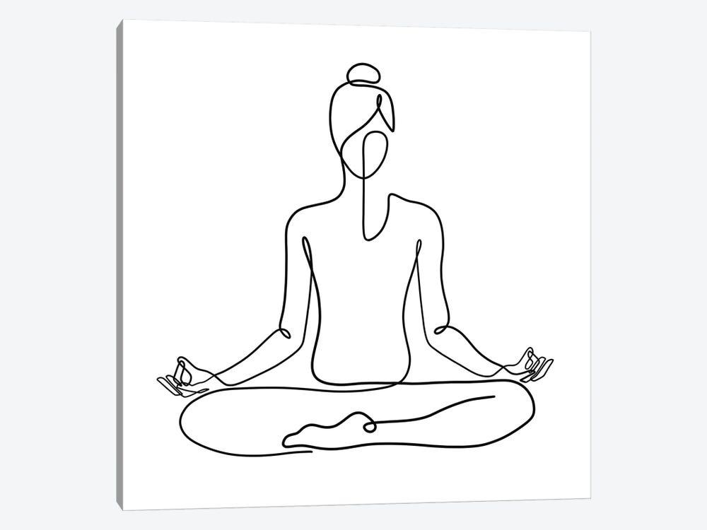 Yoga Namaste Square by Dane Khy 1-piece Art Print