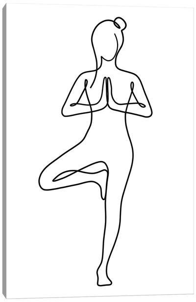 Yoga Tree Pose Canvas Art Print