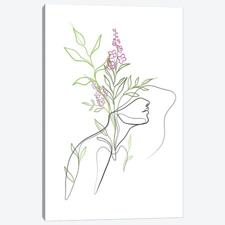 Flowerhead Femme Canvas Print #KHY63} by Dane Khy Canvas Art