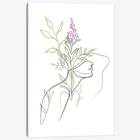 Flowerhead Femme Canvas Print #KHY63} by Dane Khy Canvas Art