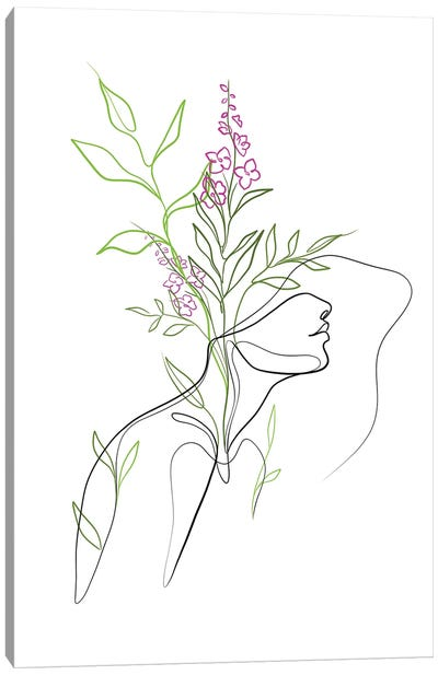Flowerhead Femme Canvas Art Print