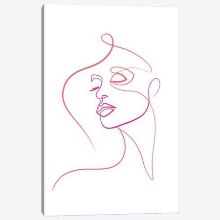 Femme Face I Canvas Print #KHY66} by Dane Khy Canvas Art Print