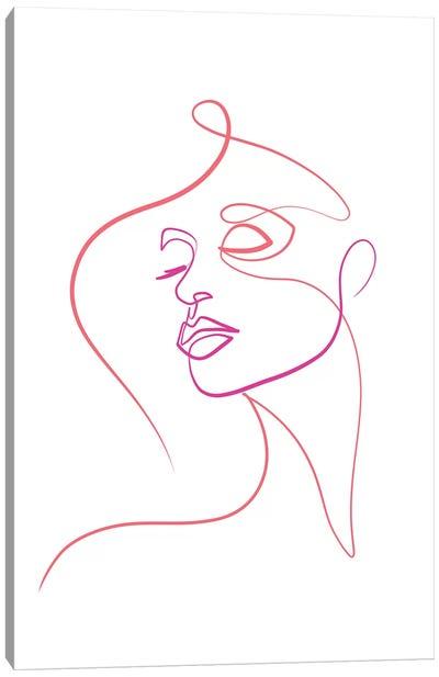 Femme Face I Canvas Art Print