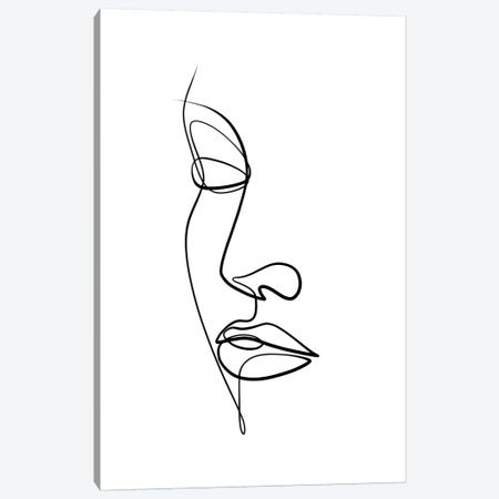 Femme Face II Canvas Print #KHY67} by Dane Khy Canvas Art Print
