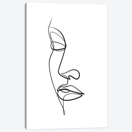 Femme Face II Canvas Print #KHY67} by Dane Khy Canvas Art Print