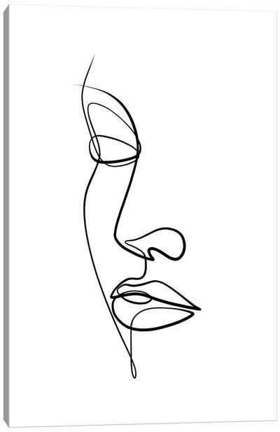 Femme Face II Canvas Art Print