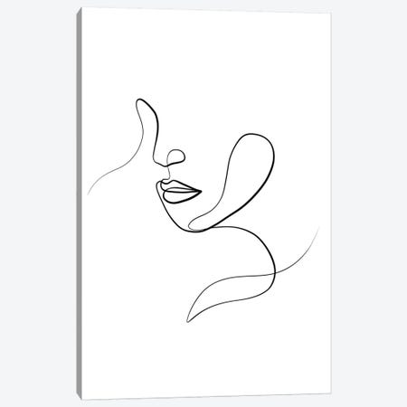 Femme Face III Canvas Print #KHY68} by Dane Khy Canvas Artwork