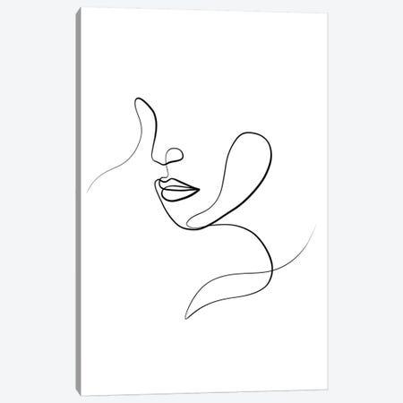 Femme Face III Canvas Print #KHY68} by Dane Khy Canvas Artwork