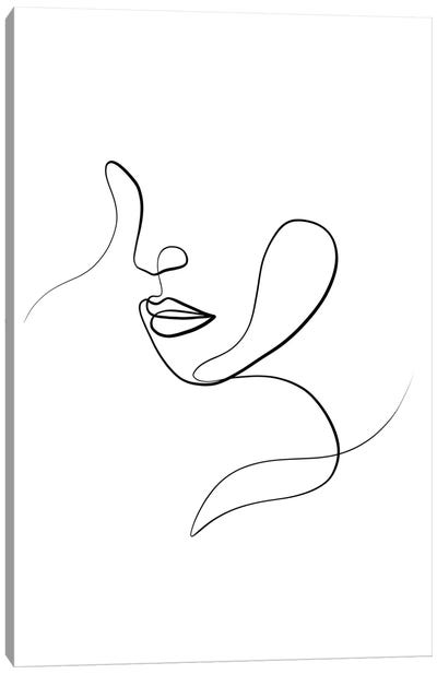 Femme Face III Canvas Art Print