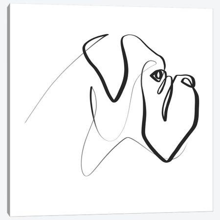 Boxer Canvas Print #KHY6} by Dane Khy Canvas Art Print