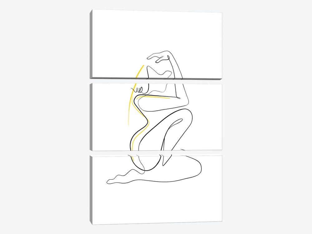 Woman Nude II by Dane Khy 3-piece Canvas Artwork