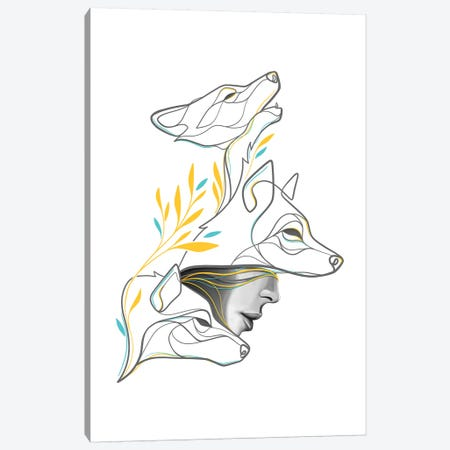 Wolfpack Canvas Print #KHY75} by Dane Khy Canvas Art