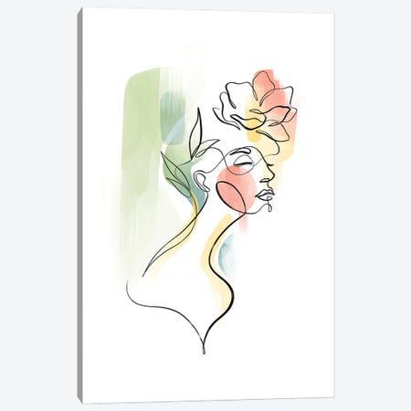 Flowerhead Femme No. 3 Canvas Print #KHY79} by Dane Khy Art Print