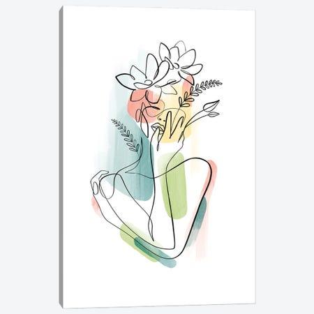 Flowerhead Femme No. 2 Canvas Print #KHY80} by Dane Khy Canvas Wall Art