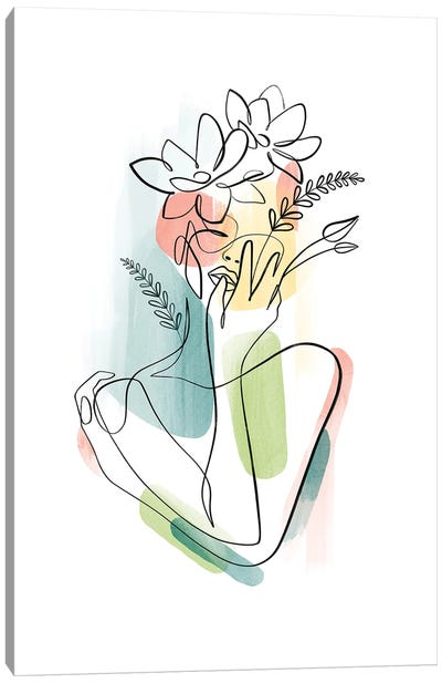 Flowerhead Femme No. 2 Canvas Art Print