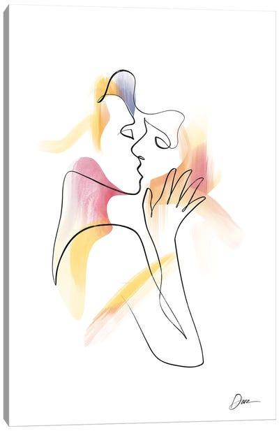 Eros No 2 - Erotic Line Art Canvas Art Print