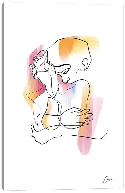 Eros No 3 - Erotic Line Art Canvas Art Print