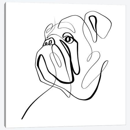 Bulldog II Canvas Print #KHY8} by Dane Khy Canvas Artwork