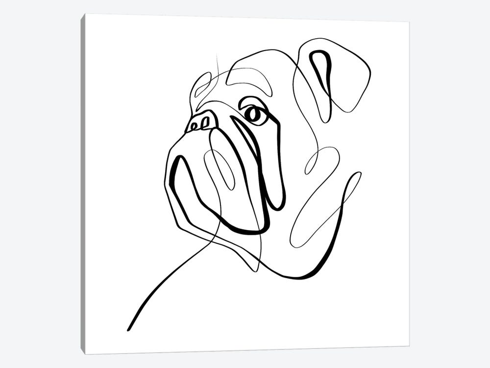 Bulldog II by Dane Khy 1-piece Canvas Artwork