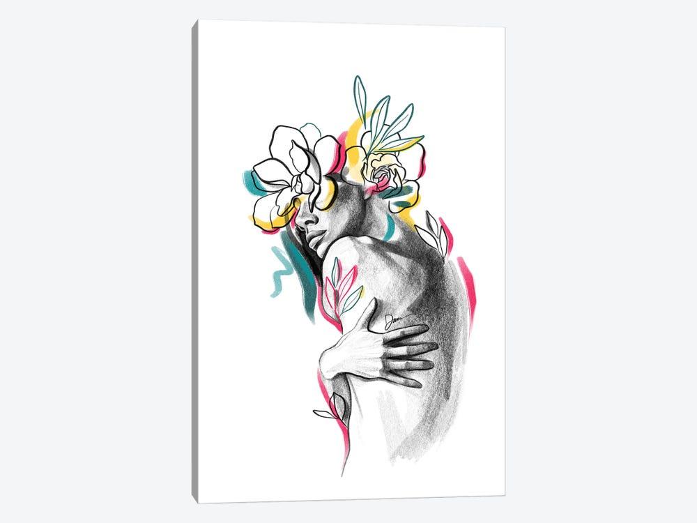 Flowerhead Femme No. 5 by Dane Khy 1-piece Canvas Wall Art