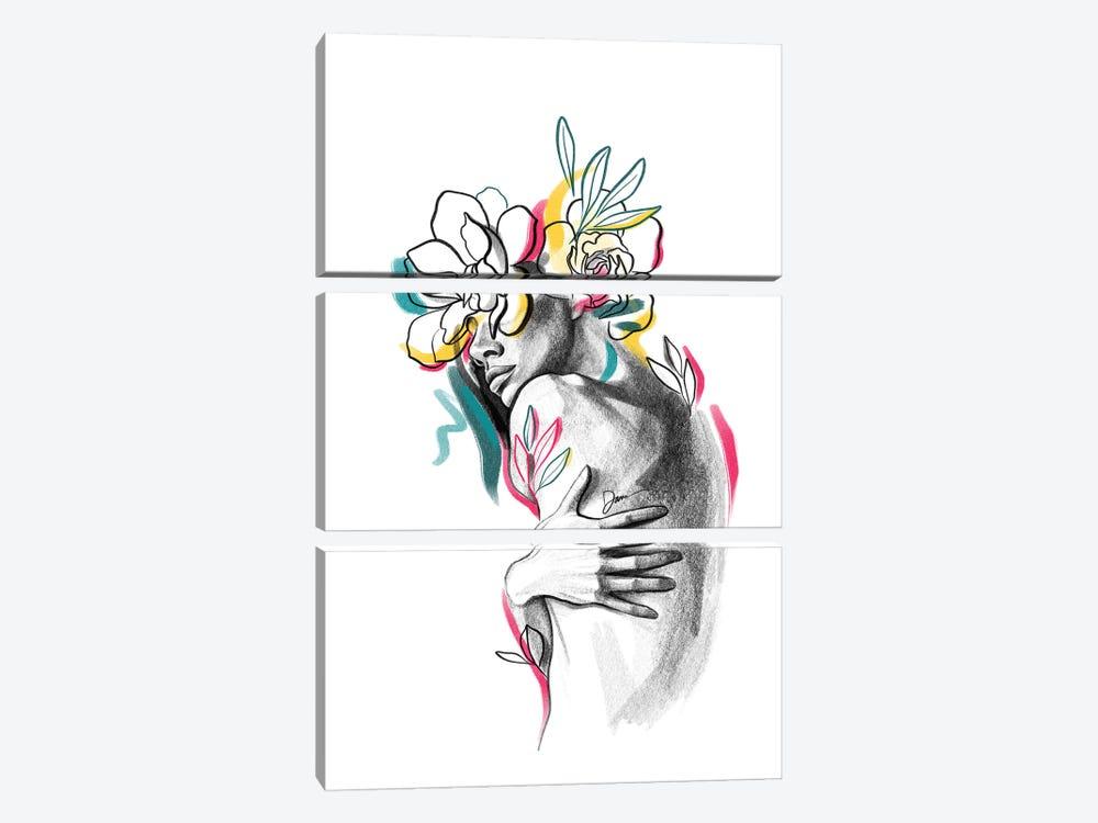 Flowerhead Femme No. 5 by Dane Khy 3-piece Canvas Wall Art