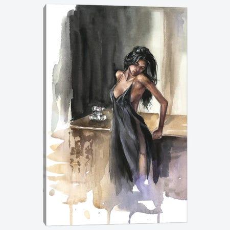 Lady Canvas Print #KIB10} by Kira Balan Canvas Print