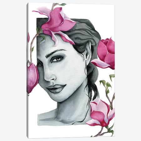 Magnolia Canvas Print #KIB16} by Kira Balan Canvas Art