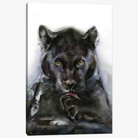 Panther Canvas Print #KIB22} by Kira Balan Canvas Wall Art