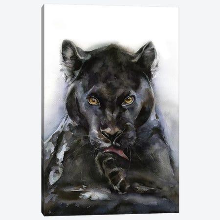 Panther Canvas Print #KIB22} by Kira Balan Canvas Wall Art