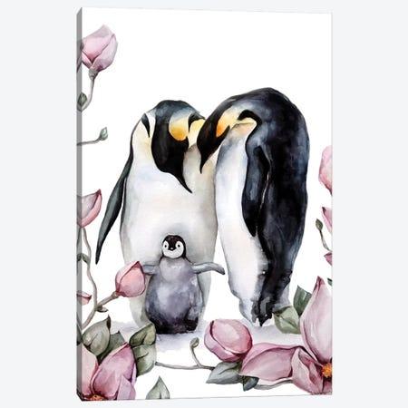 Penguins Canvas Print #KIB23} by Kira Balan Canvas Art