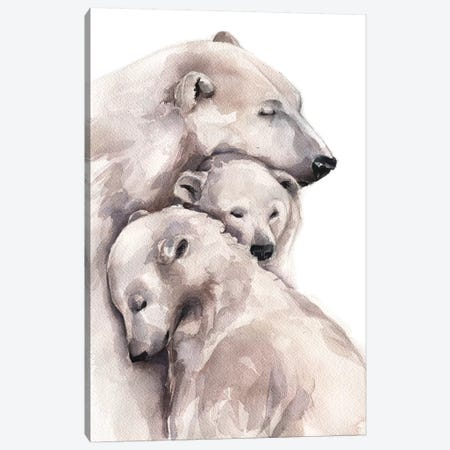 Polar Bear Canvas Print #KIB26} by Kira Balan Canvas Print