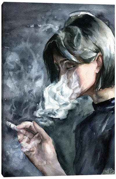 Smoke Canvas Art Print