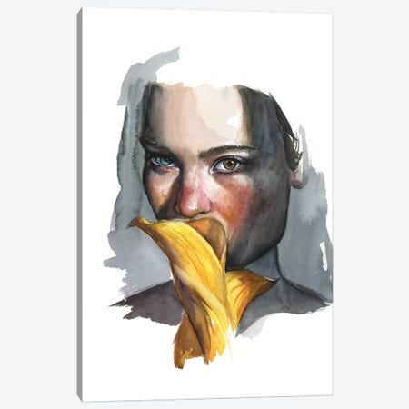 Yellow Lilly Canvas Print #KIB37} by Kira Balan Canvas Artwork