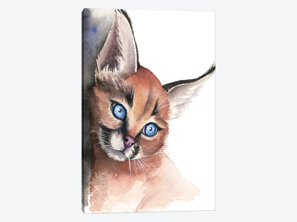Caracal by Kira Balan 1-piece Canvas Art Print