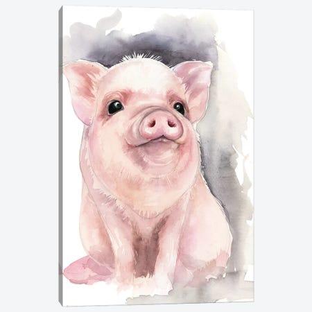 Piggy Canvas Print #KIB41} by Kira Balan Canvas Artwork
