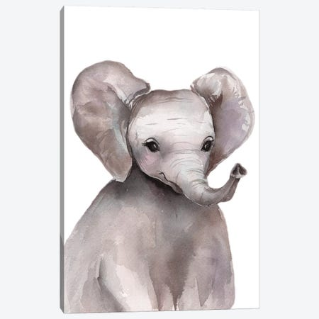 Elephant Canvas Print #KIB46} by Kira Balan Canvas Print