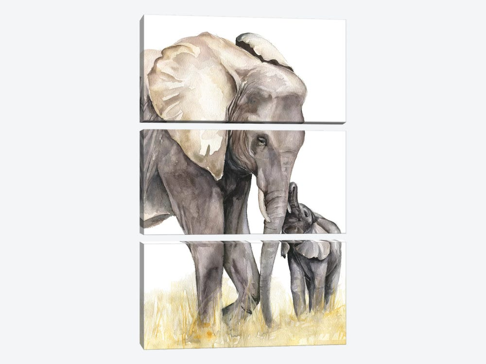 Elephants by Kira Balan 3-piece Art Print